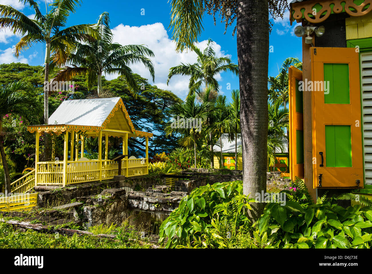 Romney Manor on St. Kitts, St. Kitts and Nevis, Leeward Islands, West Indies, Caribbean, Central America Stock Photo