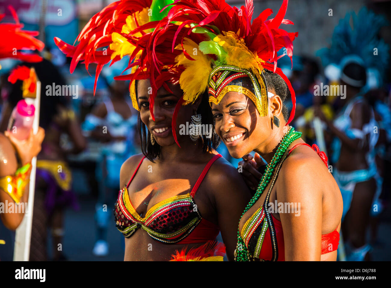Carnival in Basseterre, St. Kitts, St. Kitts and Nevis, Leeward Islands, West Indies, Caribbean, Central America Stock Photo