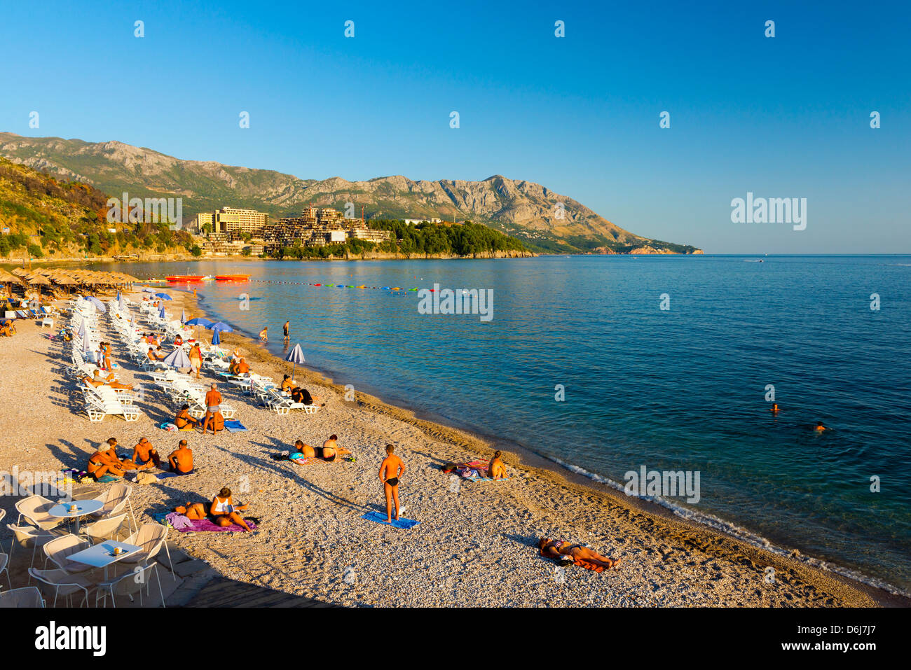 Main Beach, Budva, Montenegro, Europe Stock Photo
