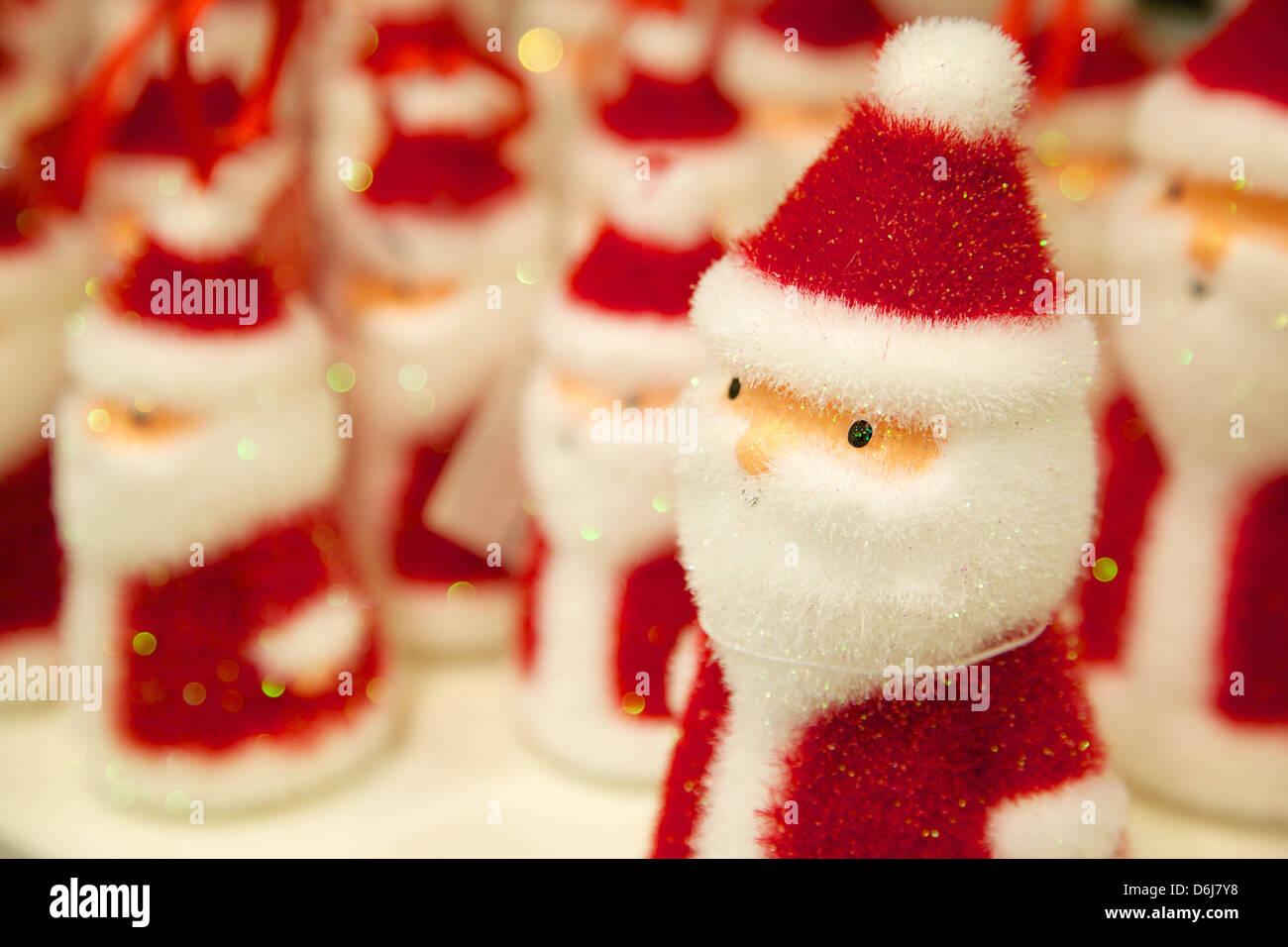 Santa Claus Chritmas decoration, Sheffield, Yorkshire, England, United Kingdom, Europe - Stock Image