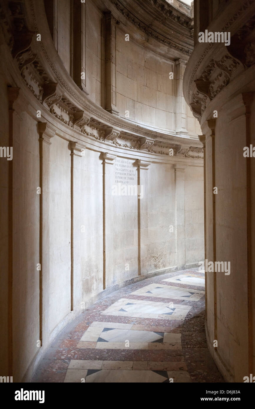 Seville Cathedral passageway, Seville, Andalucia, Spain, Europe - Stock Image
