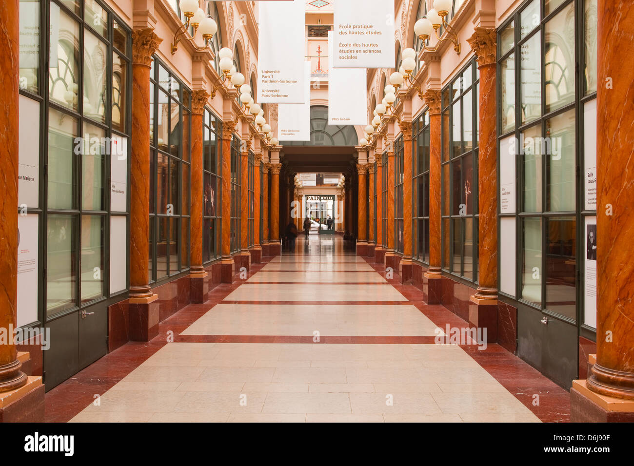 Galerie Colbert in central Paris, France, Europe - Stock Image