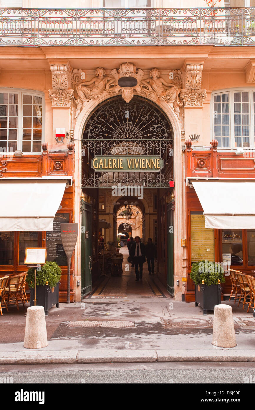Galerie Vivienne in central Paris, France, Europe Stock Photo