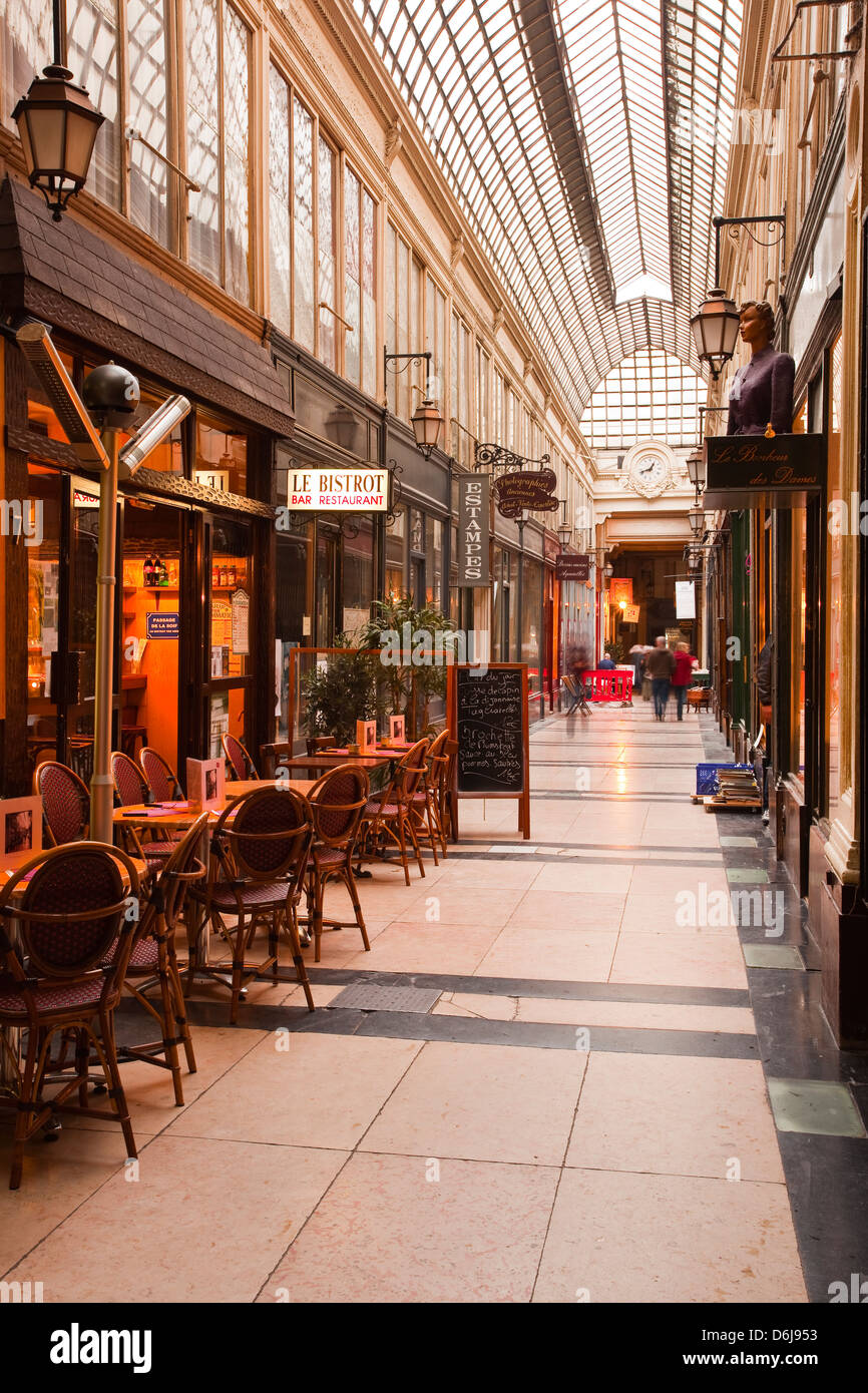 Passage des Panoramas in central Paris, France, Europe - Stock Image
