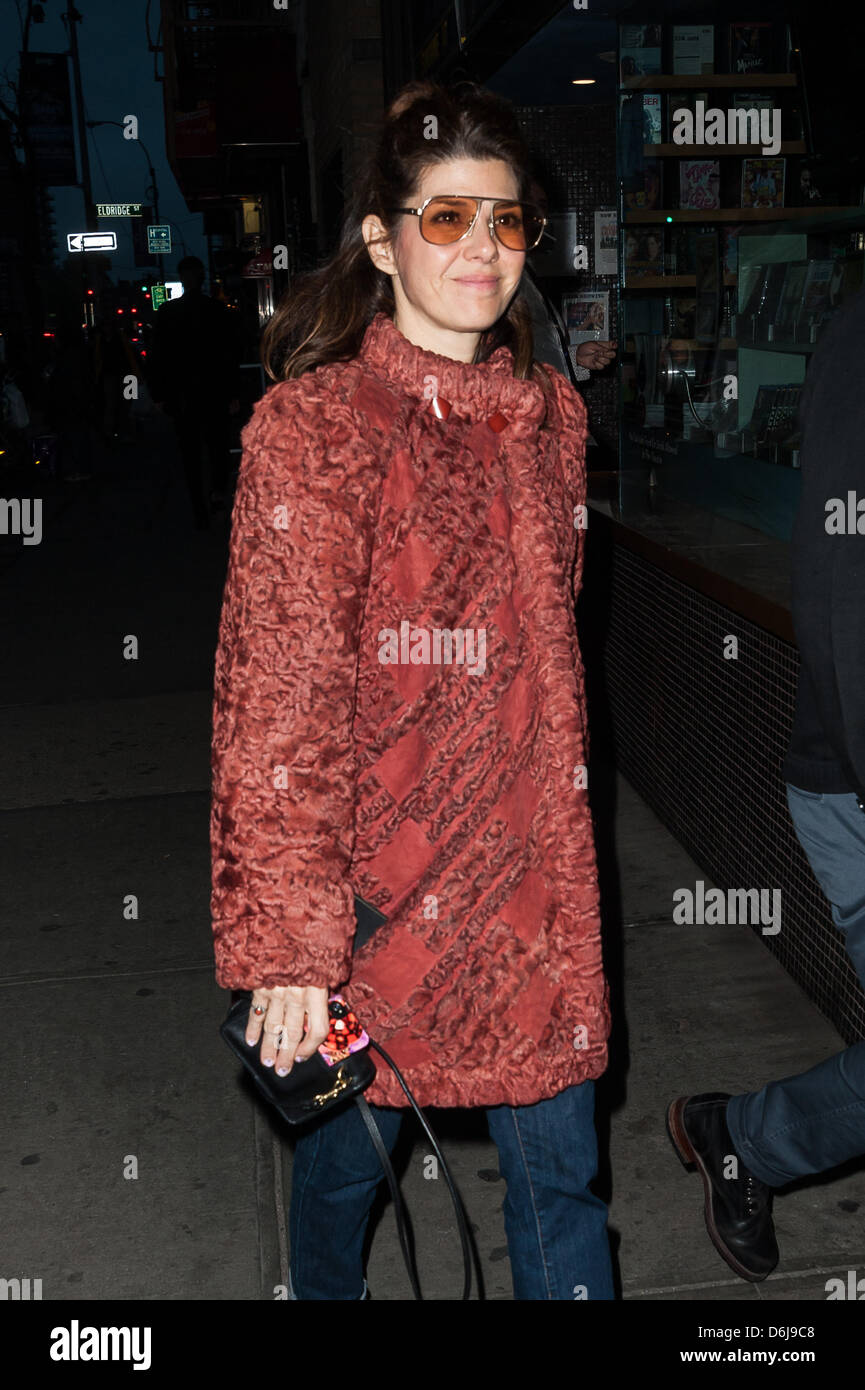 New York, NY, USA, 18, April 2013. Marisa Tomei arrives at the New York screening of 'At Any Price' at The - Stock Image