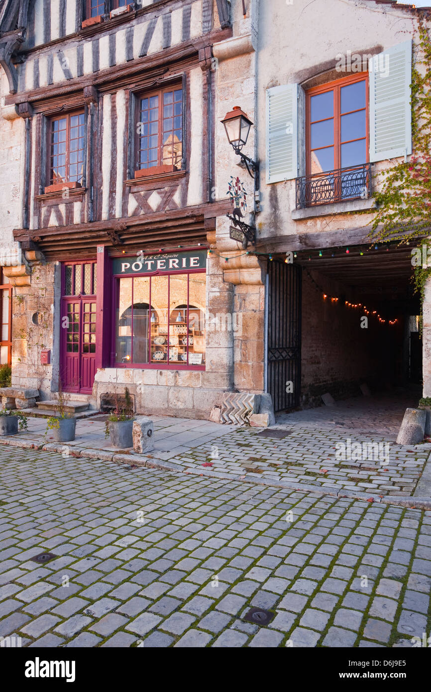 An old pottery in the village of Noyers-sur-Serein, one of the Beaux Villages de France, Yonne, Burgundy, France, - Stock Image