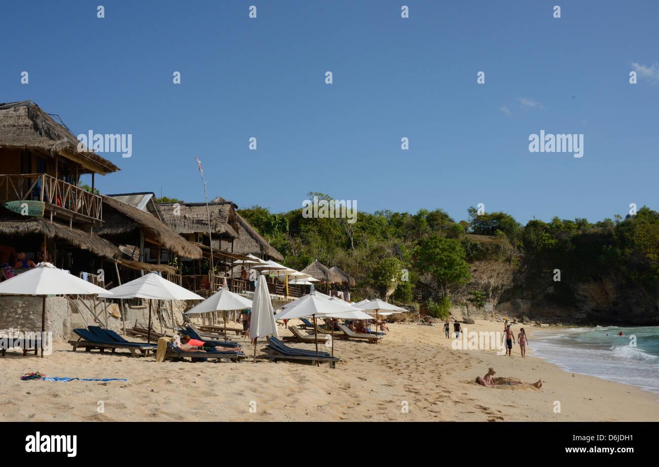 Balangan Beach and surfing hub, Bukit Peninsula, Bali, Indonesia, Southeast Asia, Asia - Stock Image