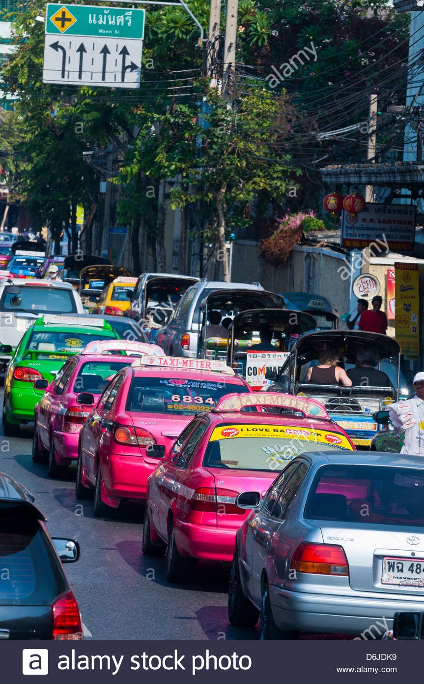 Traffic, Bangkok, Thailand - Stock Image