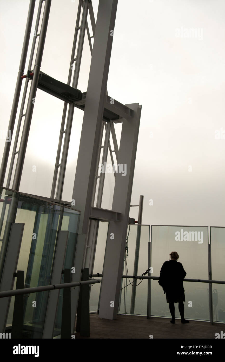 Viewing Gallery On The 72nd Floor Of The Shard London Bridge Stock