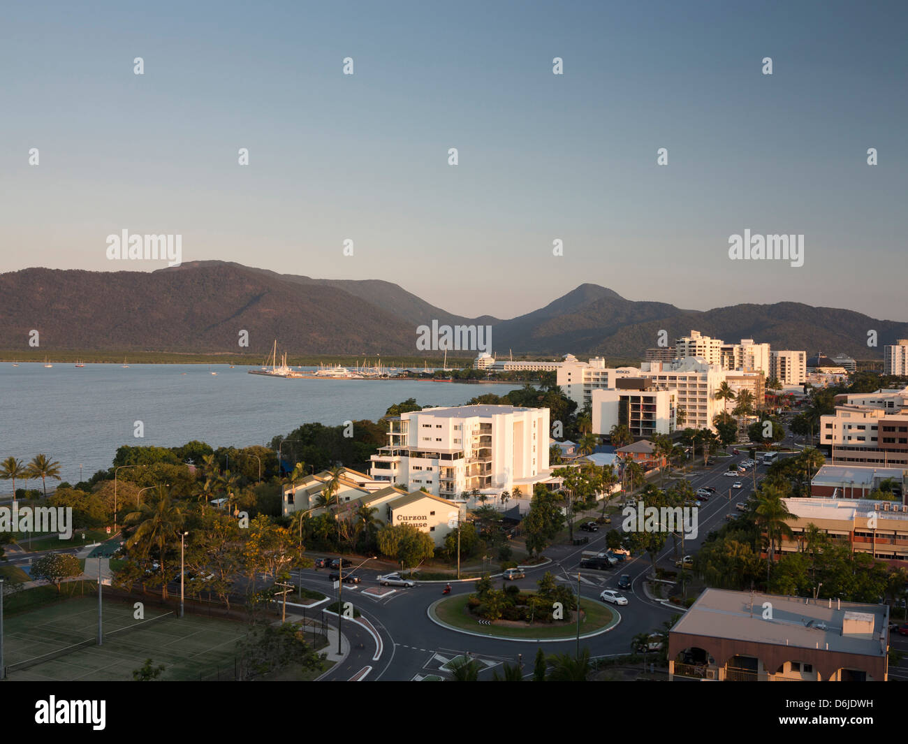 Waterfront and view towards city centre from south, Cairns, North Queensland, Australia, Pacific Stock Photo