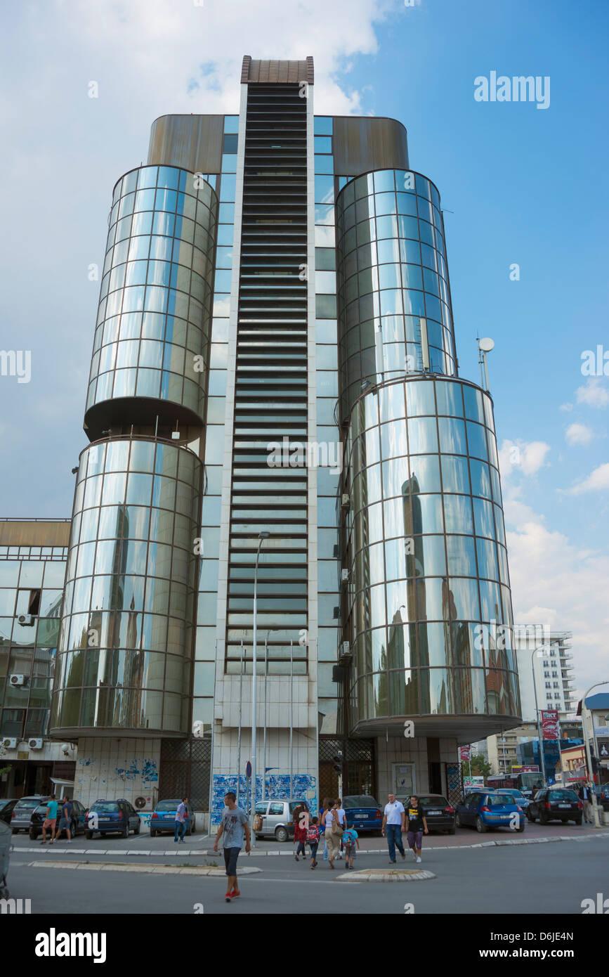 Modern building, Pristina, Kosovo, Europe - Stock Image
