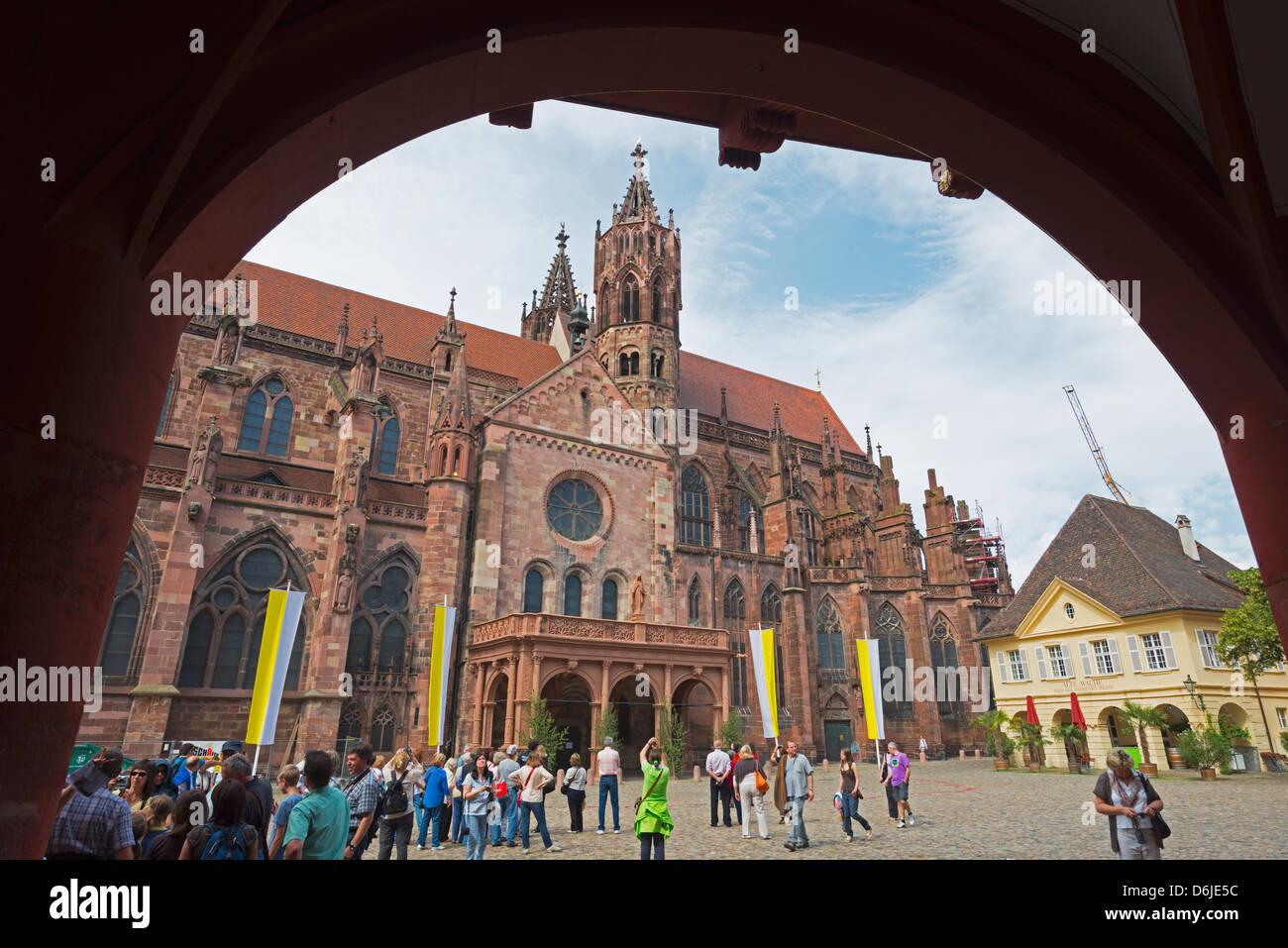 Freiburg Cathedral, Freiburg, Baden-Wurttemberg, Germany, Europe - Stock Image