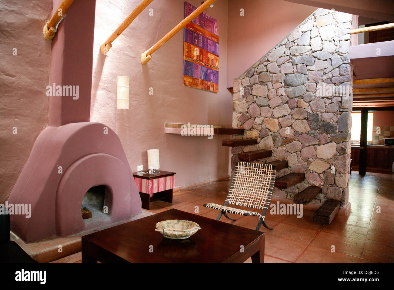 The luxurious La Comarca Hotel in Purmamarca, Jujuy Province, Argentina, South America - Stock Image