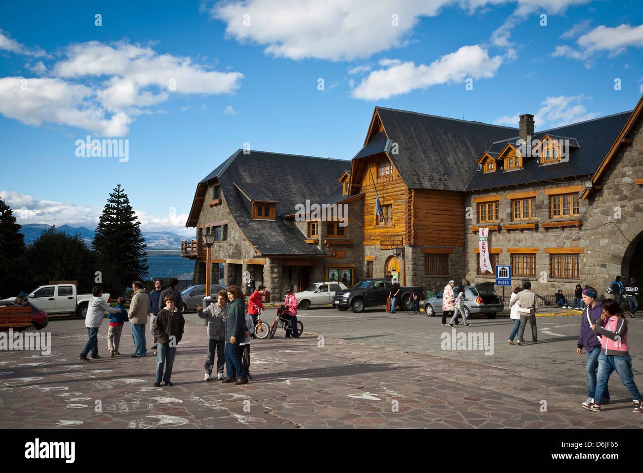 Cenro Civico, the main town hall in Bariloche, Patagonia, Argentina, South America - Stock Image
