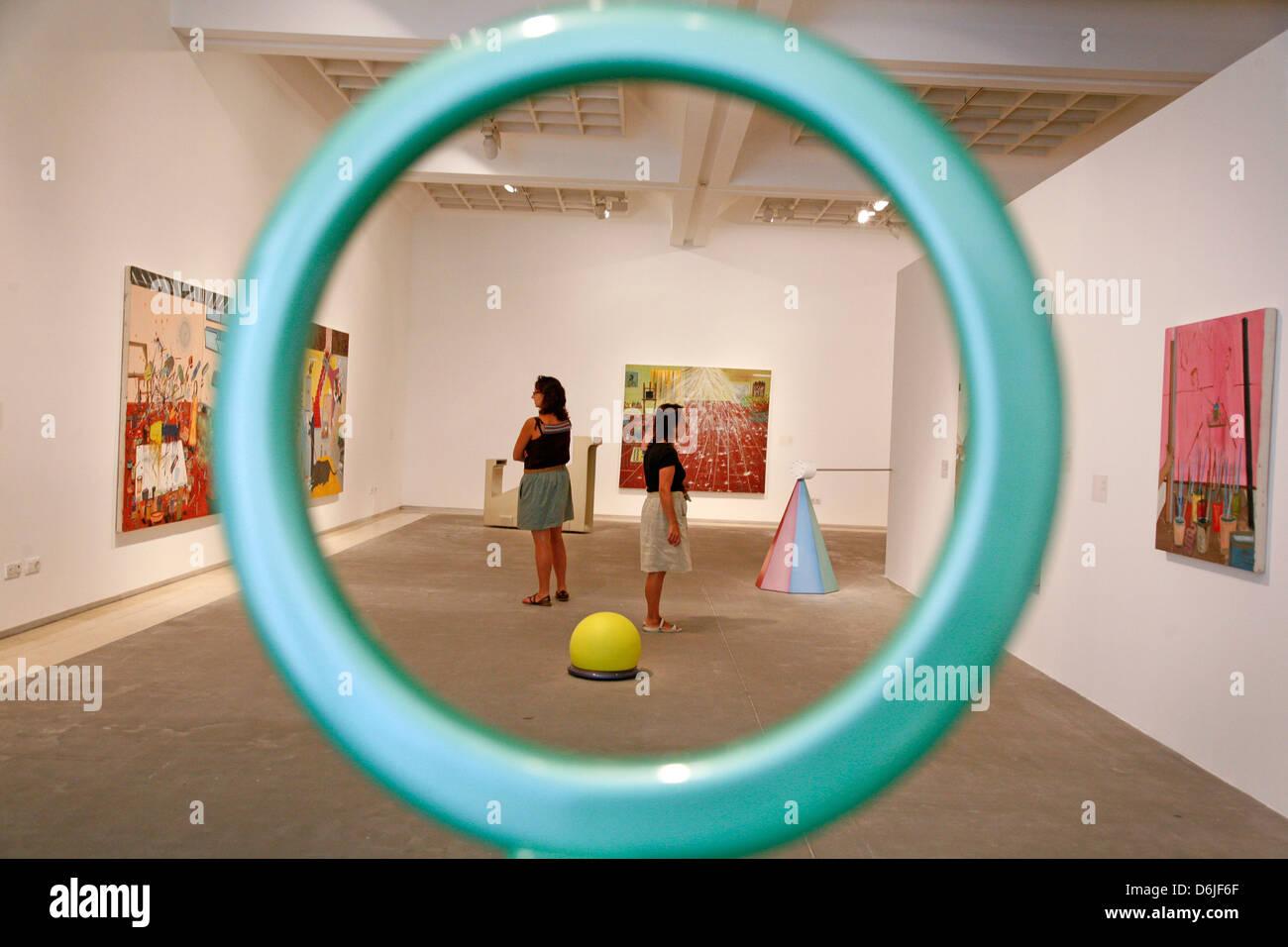 Tel Aviv Museum of Art, Tel Aviv, Israel, Middle East - Stock Image