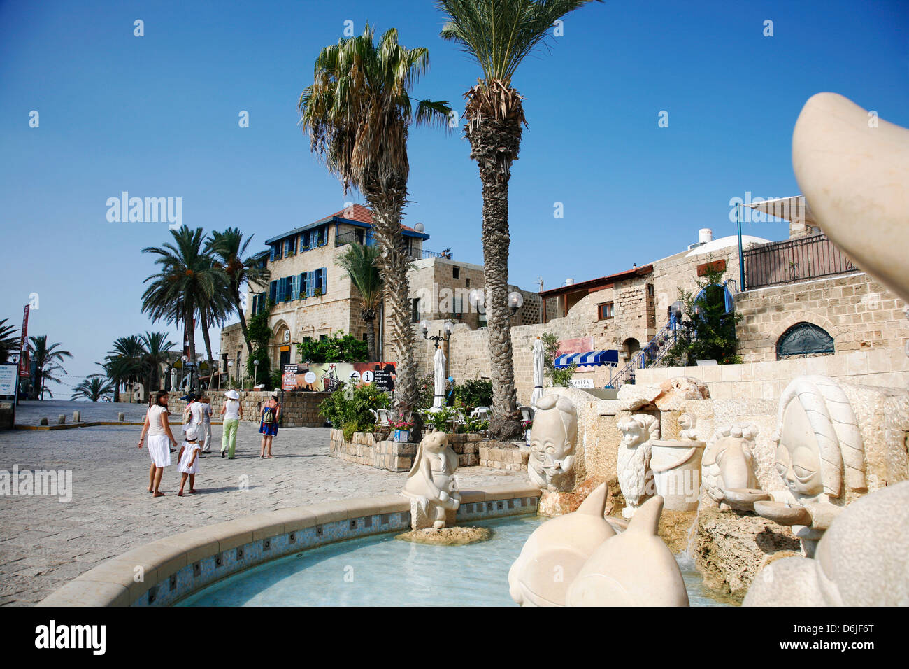 Kdumim Square in Old Jaffa, Tel Aviv, Israel, Middle East - Stock Image