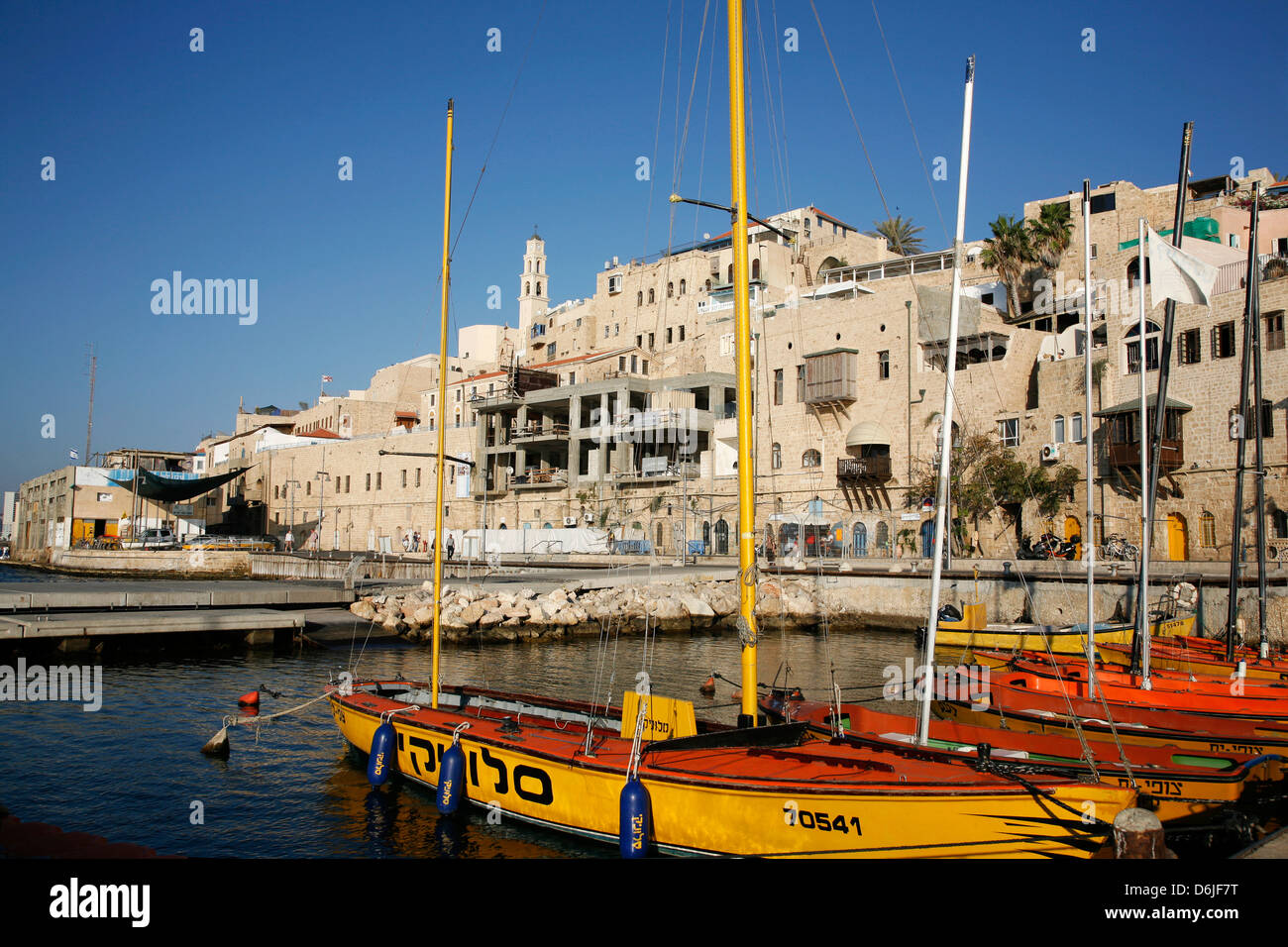 View over the port and Old Jaffa, Tel Aviv, Israel, Middle East - Stock Image