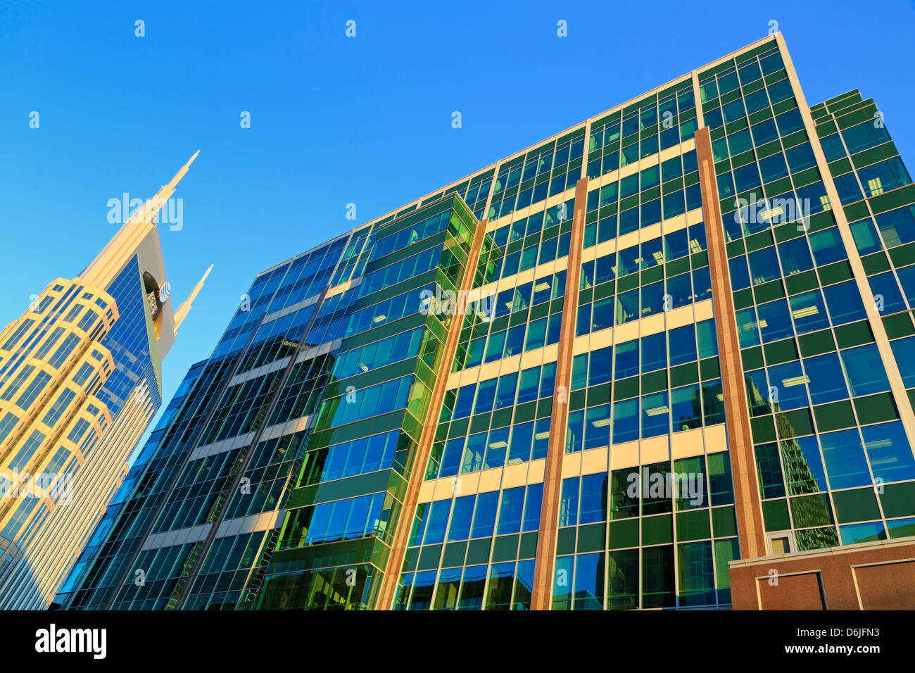 SunTrust Plaza and 333 Commerce Tower, Nashville, Tennessee, United States of America, North America - Stock Image