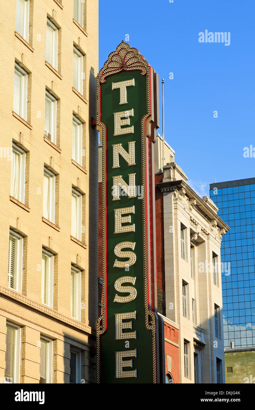 Tennessee Theater on Gay Street, Knoxville, Tennessee, United States of America, North America - Stock Image
