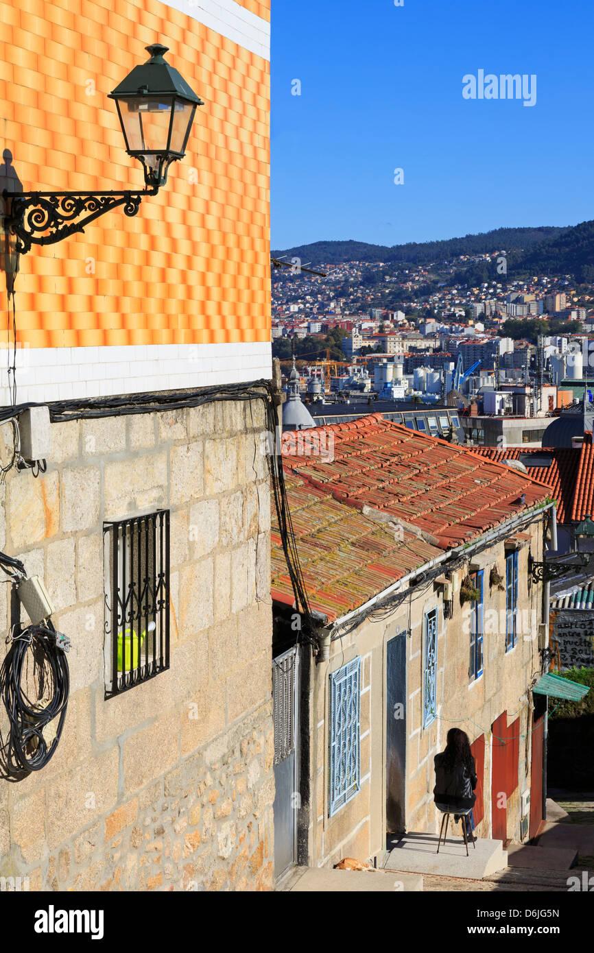 Historic Centre, Vigo, Galicia, Spain, Europe - Stock Image