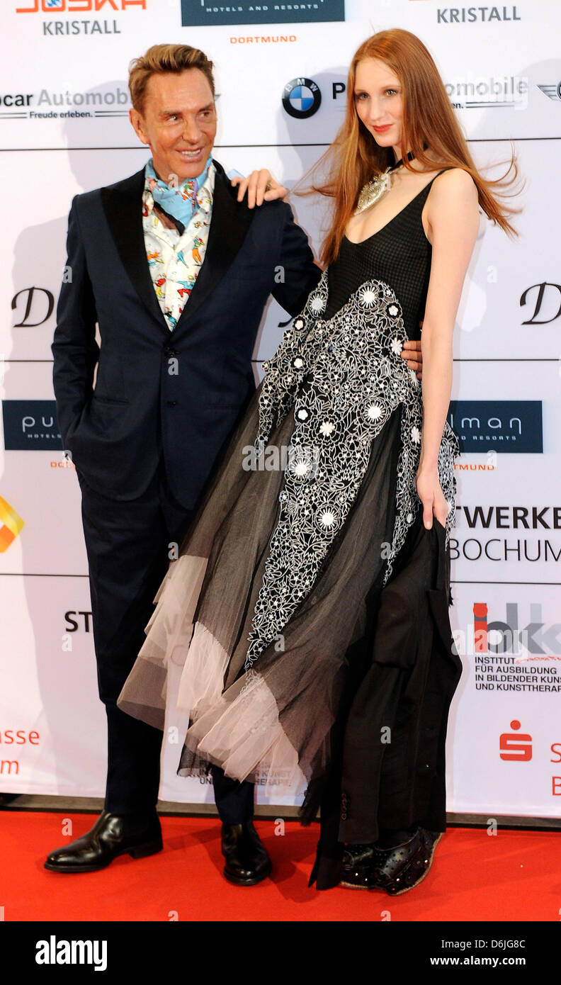 Fashion Designer Wolfgang Joop And Model Sarah Sperling Arrive For Stock Photo Alamy