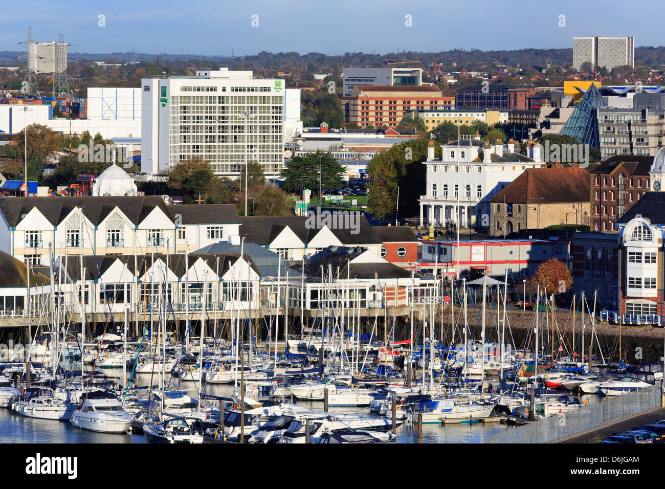 Town Quay and yacht marina, Southampton, Hampshire, England, United Kingdom, Europe Stock Photo