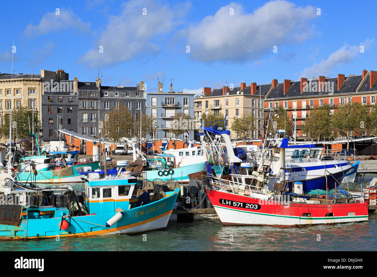 Fishing fleet in Le Havre, Normandy, France, Europe - Stock Image