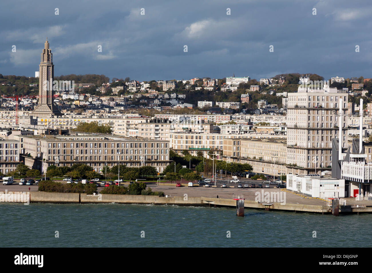Downtown Le Havre, Normandy, France, Europe - Stock Image
