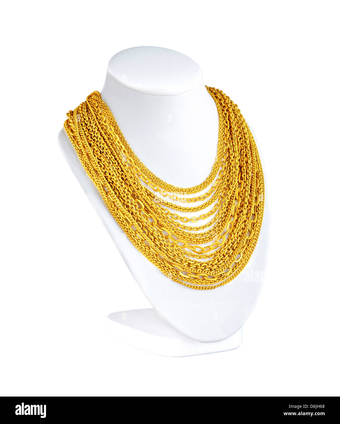 e46c922f3e01 a lot of attractive gold necklaces for you to choose - Stock Image
