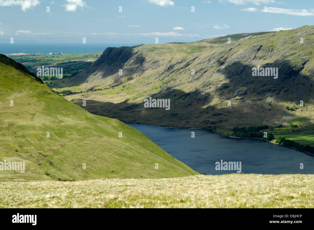 Wast Water, Wasdale, Lake District, with Sellafield Nuclear power station in the background Stock Photo