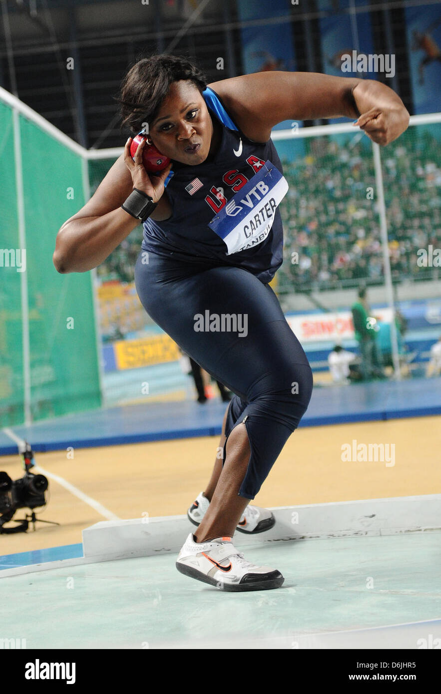 Michelle Carter Athlete >> American Athlete Michelle Carter Competes In The Women S