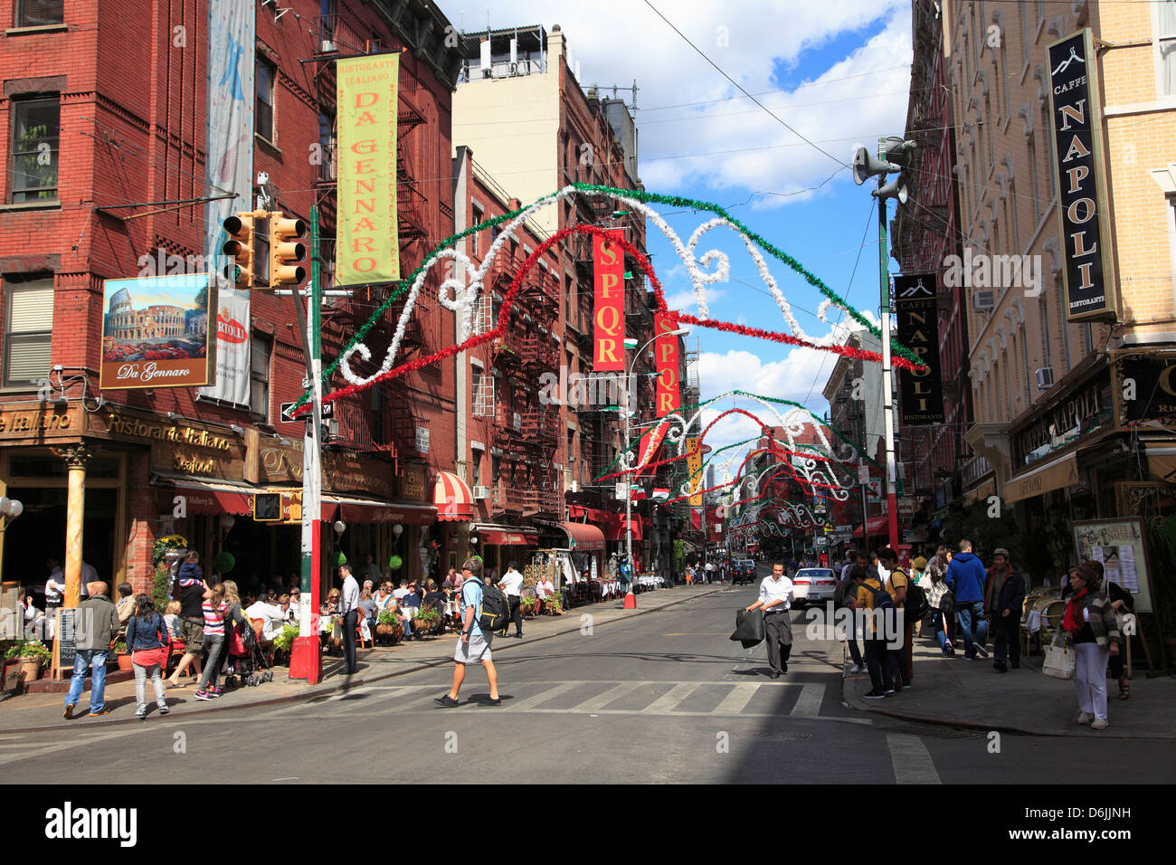 mulberry street  Mulberry Street, Little Italy, Manhattan, New York City, United ...
