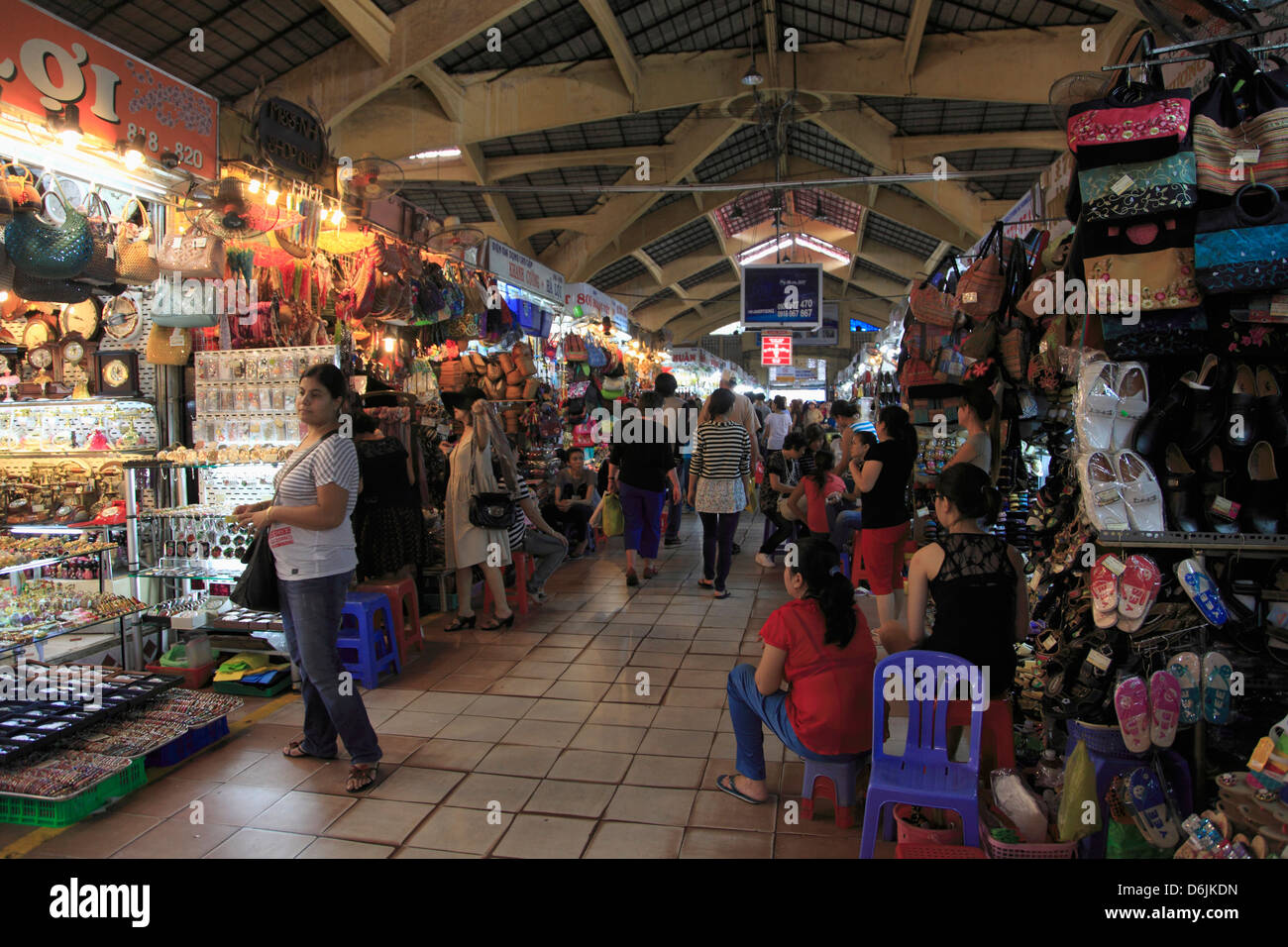 Ben Thanh Market, Ho Chi Minh City (Saigon), Vietnam, Indochina, Southeast Asia, Asia - Stock Image