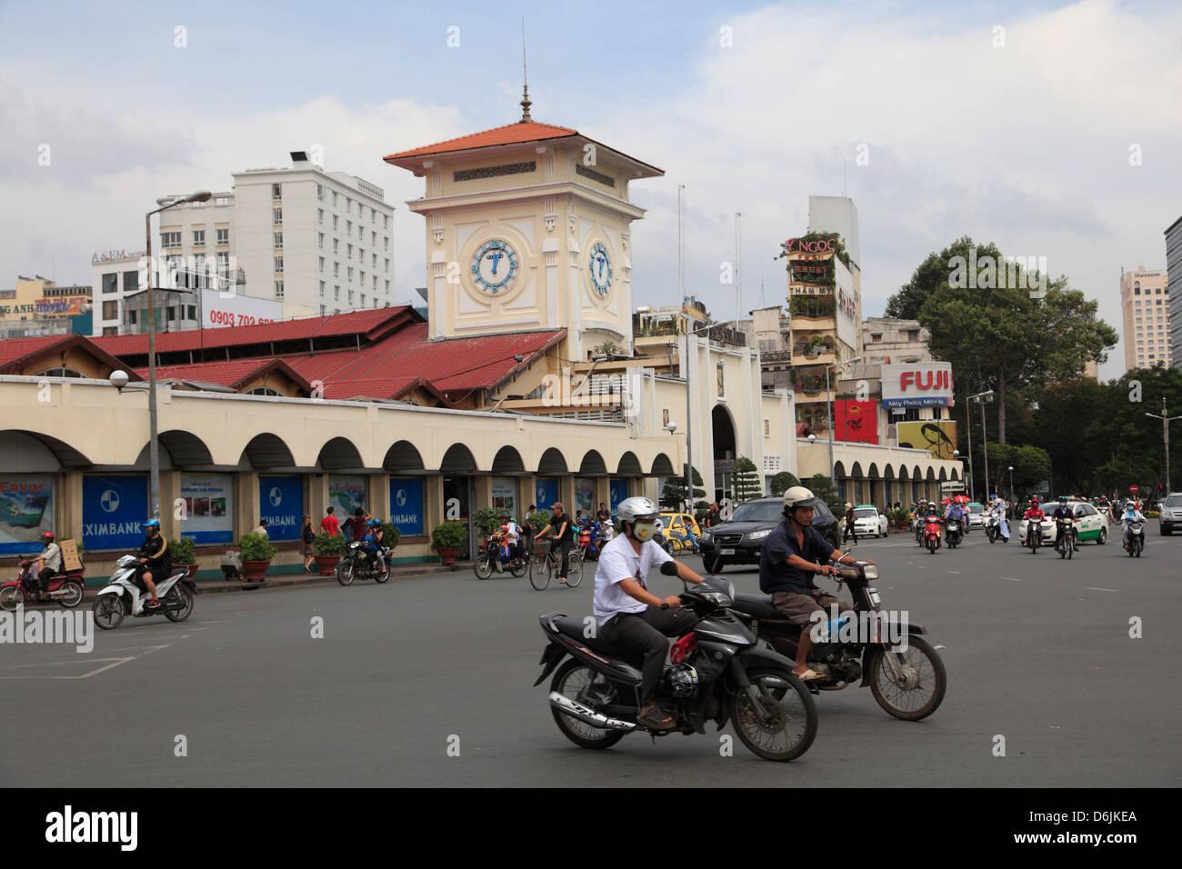 Ben Thanh Market, Ho Chi Minh City (Saigon), Vietnam, Indochina, Southeast Asia, Asia - Stock Image