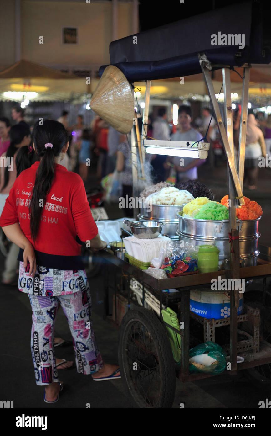 Ben Thanh Night Market, Ho Chi Minh City (Saigon), Vietnam, Indochina, Southeast Asia, Asia - Stock Image