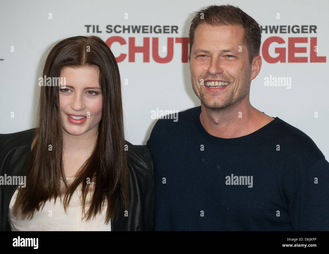 actor til schweiger and his daughter luna pose during a. Black Bedroom Furniture Sets. Home Design Ideas