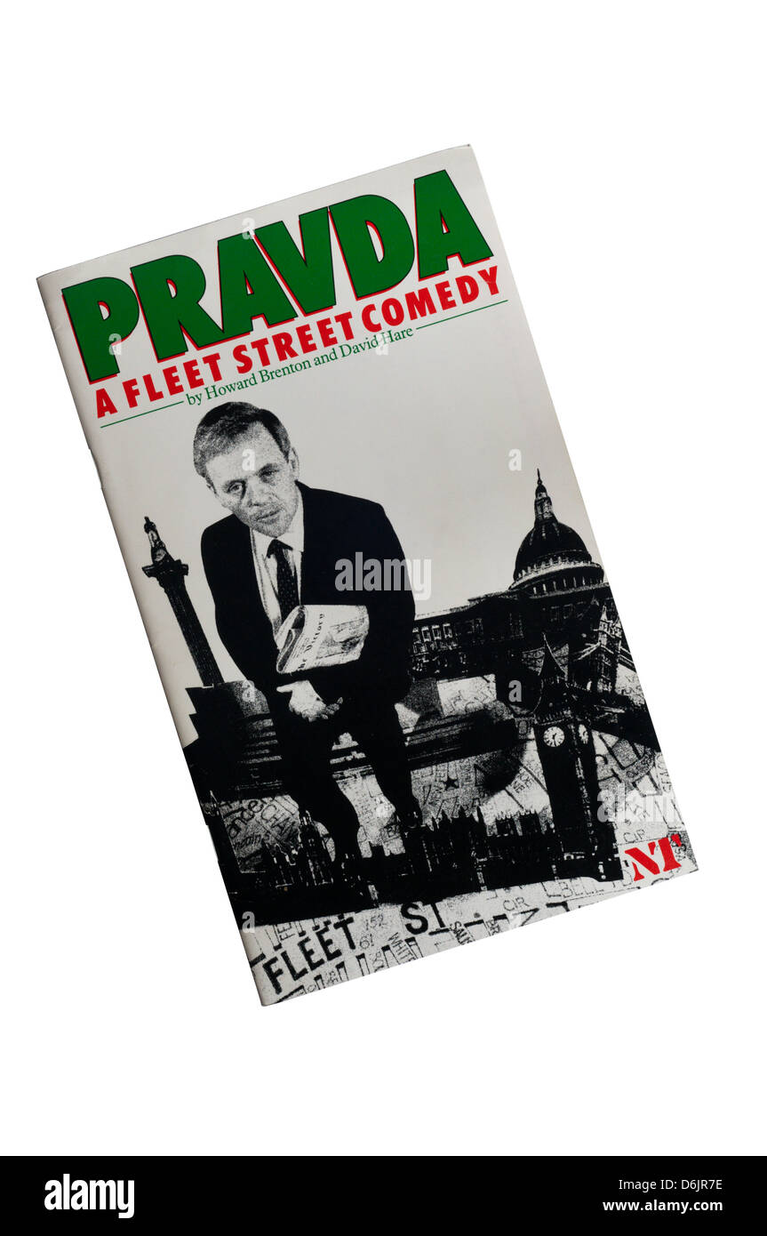 Programme for the 1985 production of David Hare & Howard Brenton's Pravda at the Olivier Theatre. - Stock Image
