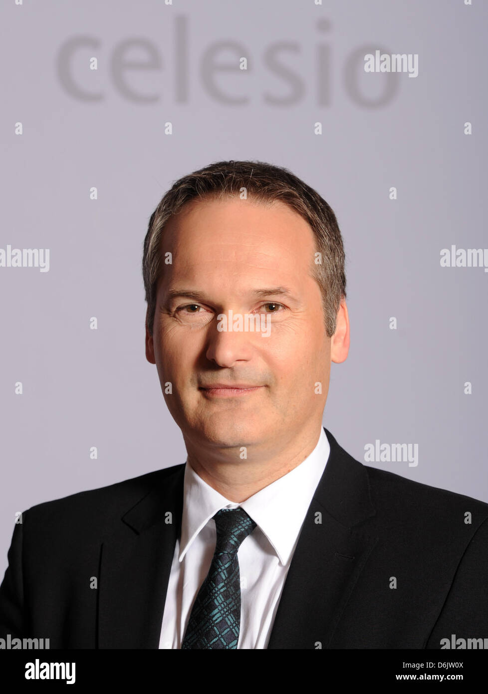 The new CEO of the German healthcare and pharmaceutical company Celesio, Markus Pinger, is seen during the company's - Stock Image
