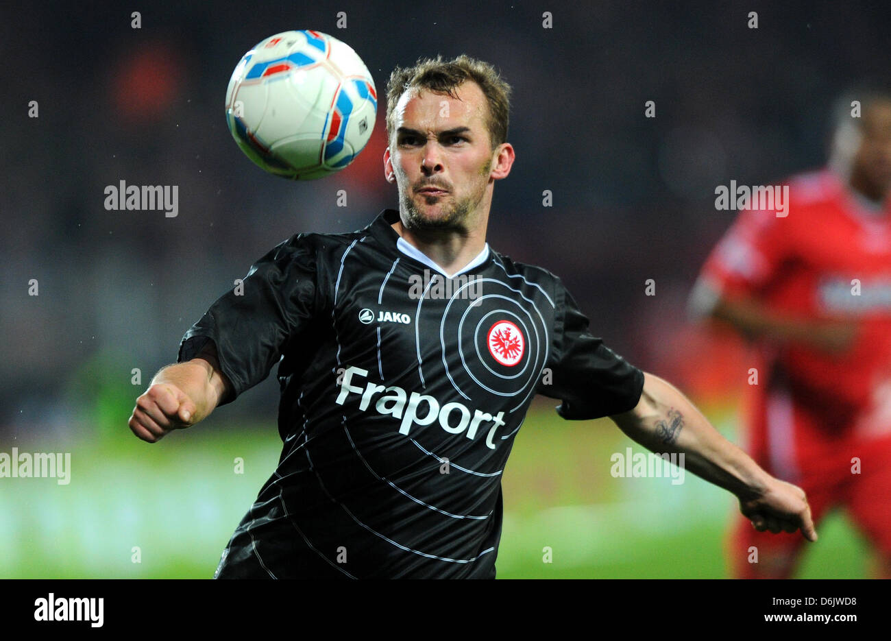 Frankfurt's Erwin Hoffer plays the ball during the German second league match between FCUnion Berlin and - Stock Image