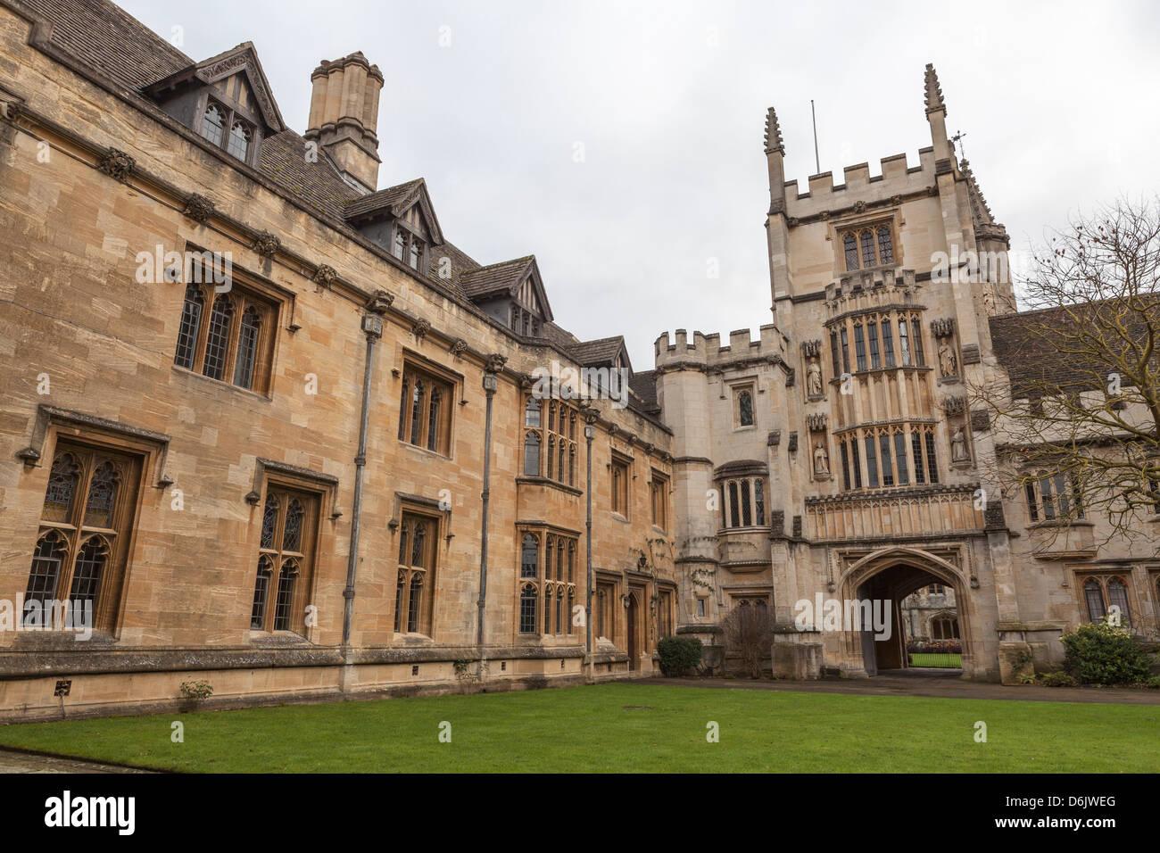 St. John's Quad, Magdalen College, Oxford, Oxfordshire, England, United Kingdom, Europe Stock Photo