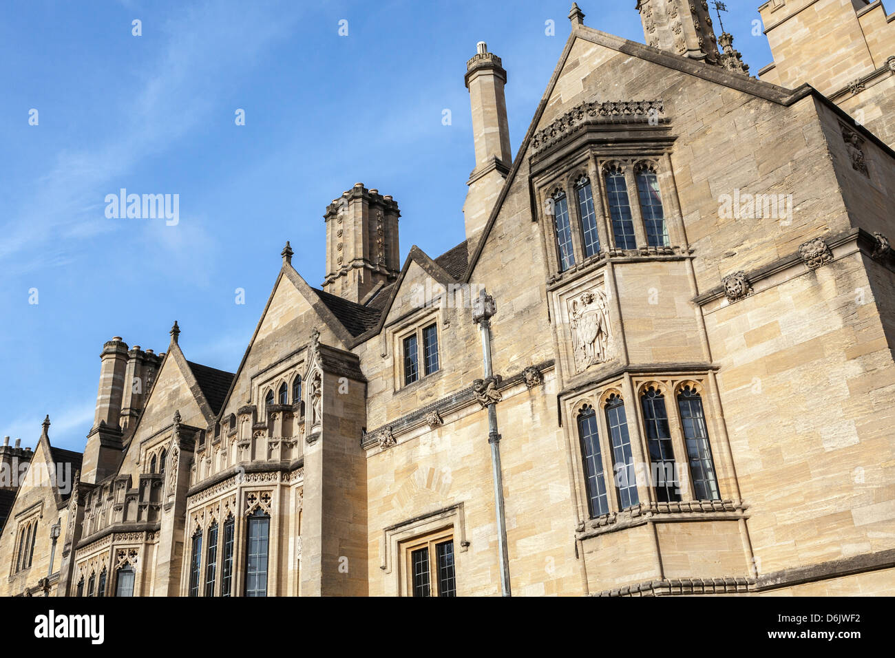 Student accommodation in Magdalen College, Oxford, Oxfordshire, England, United Kingdom, Europe - Stock Image