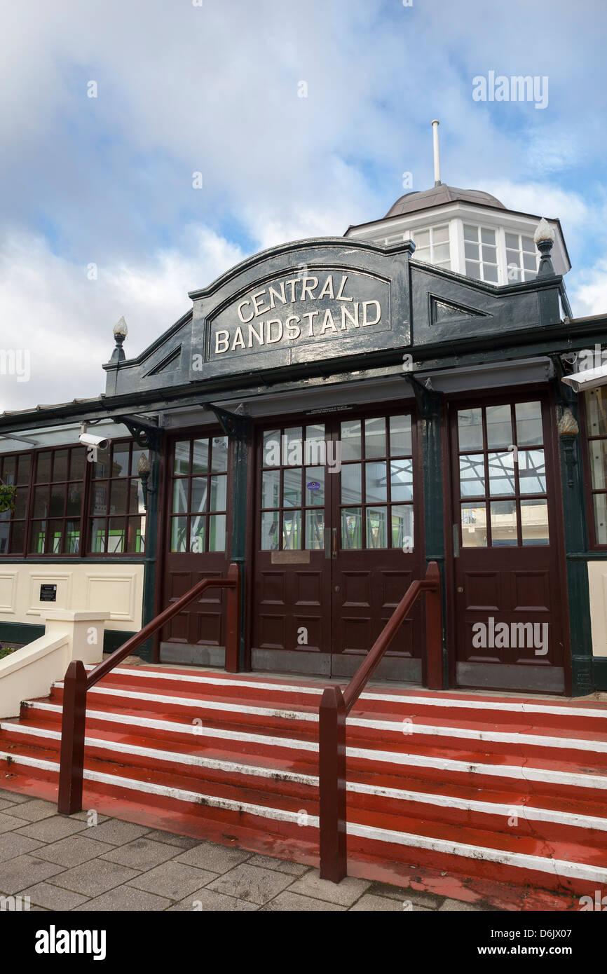 Central bandstand at Herne Bay, Kent, England, United Kingdom, Europe - Stock Image