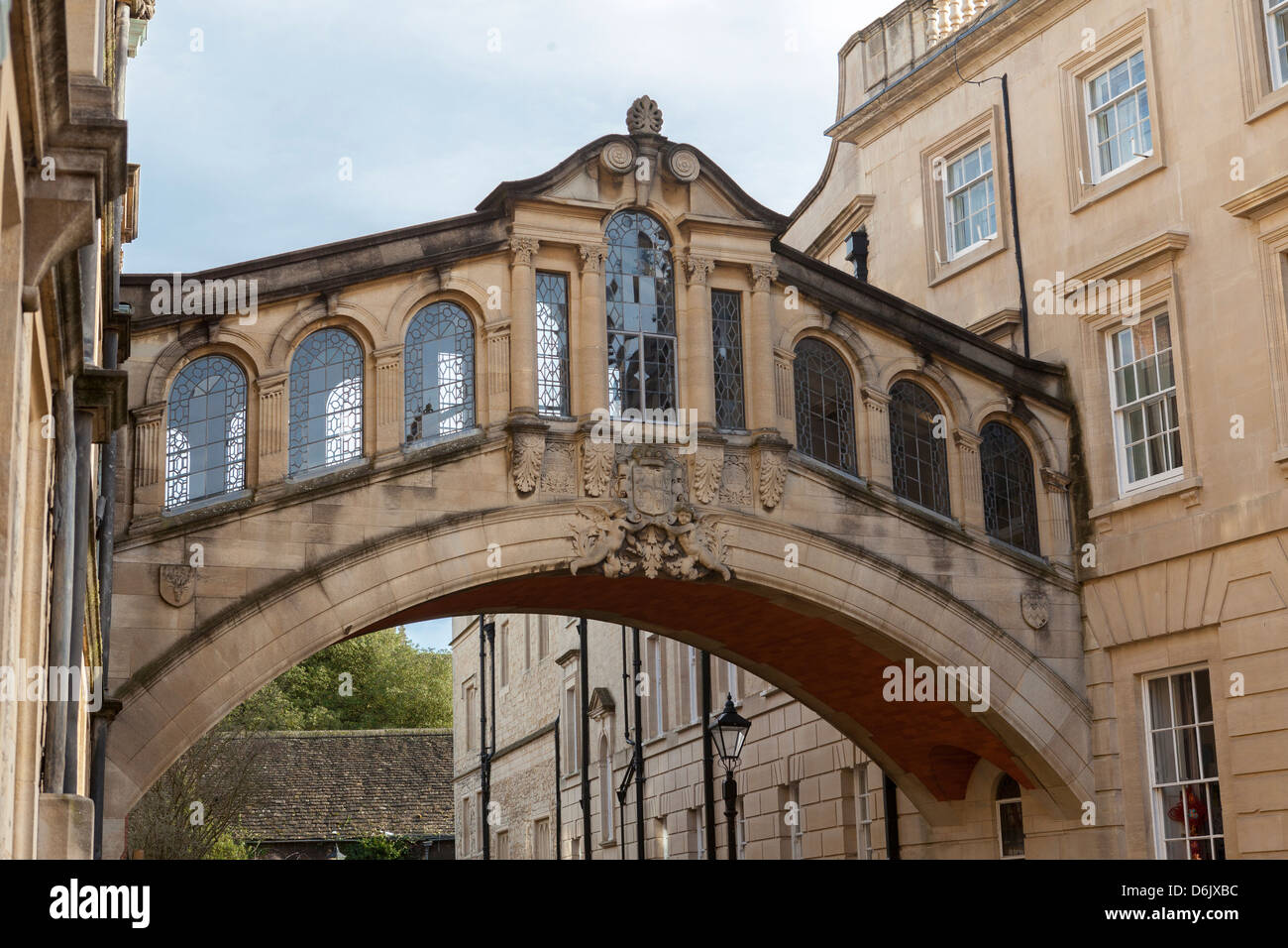 Hertford Bridge (The Bridge of Sighs), joining Hertford College and New College Lane, Oxford, Oxfordshire, England, - Stock Image