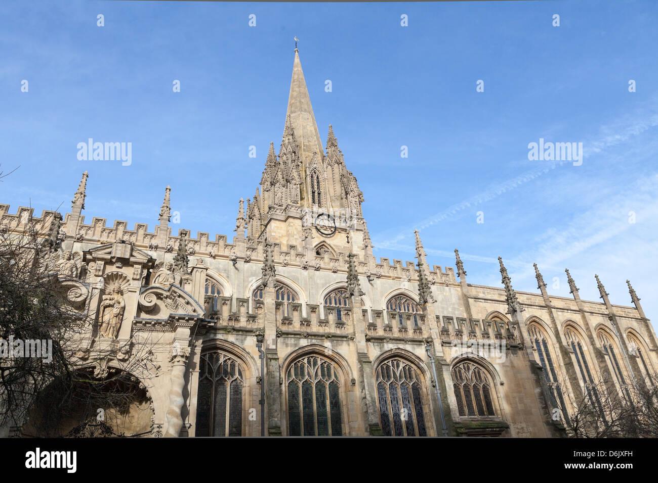 University Church of St. Mary the Virgin, Oxford, Oxfordshire, England, United Kingdom, Europe - Stock Image