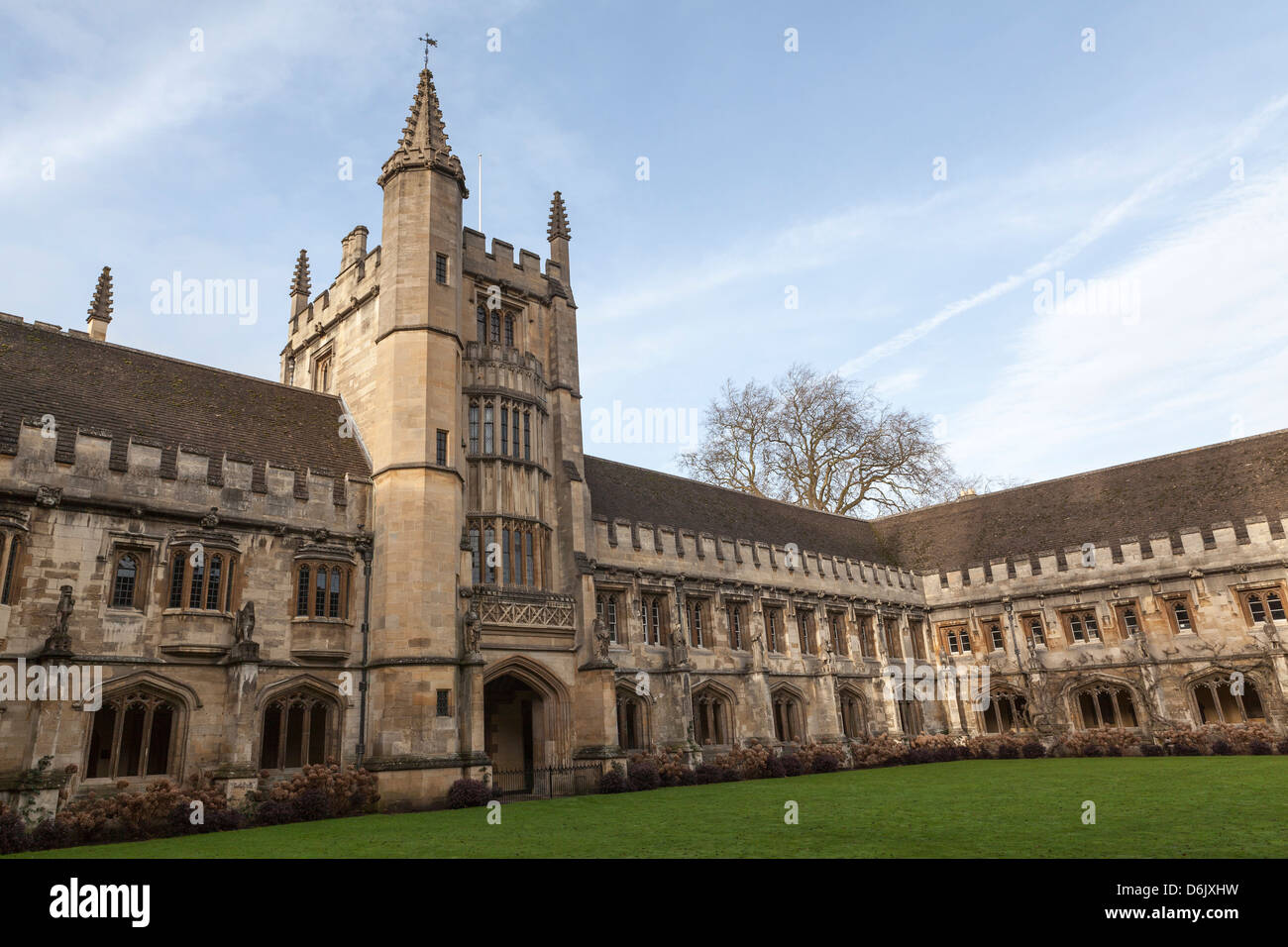 Magdalen College Cloister, Oxford, Oxfordshire, England, United Kingdom, Europe - Stock Image