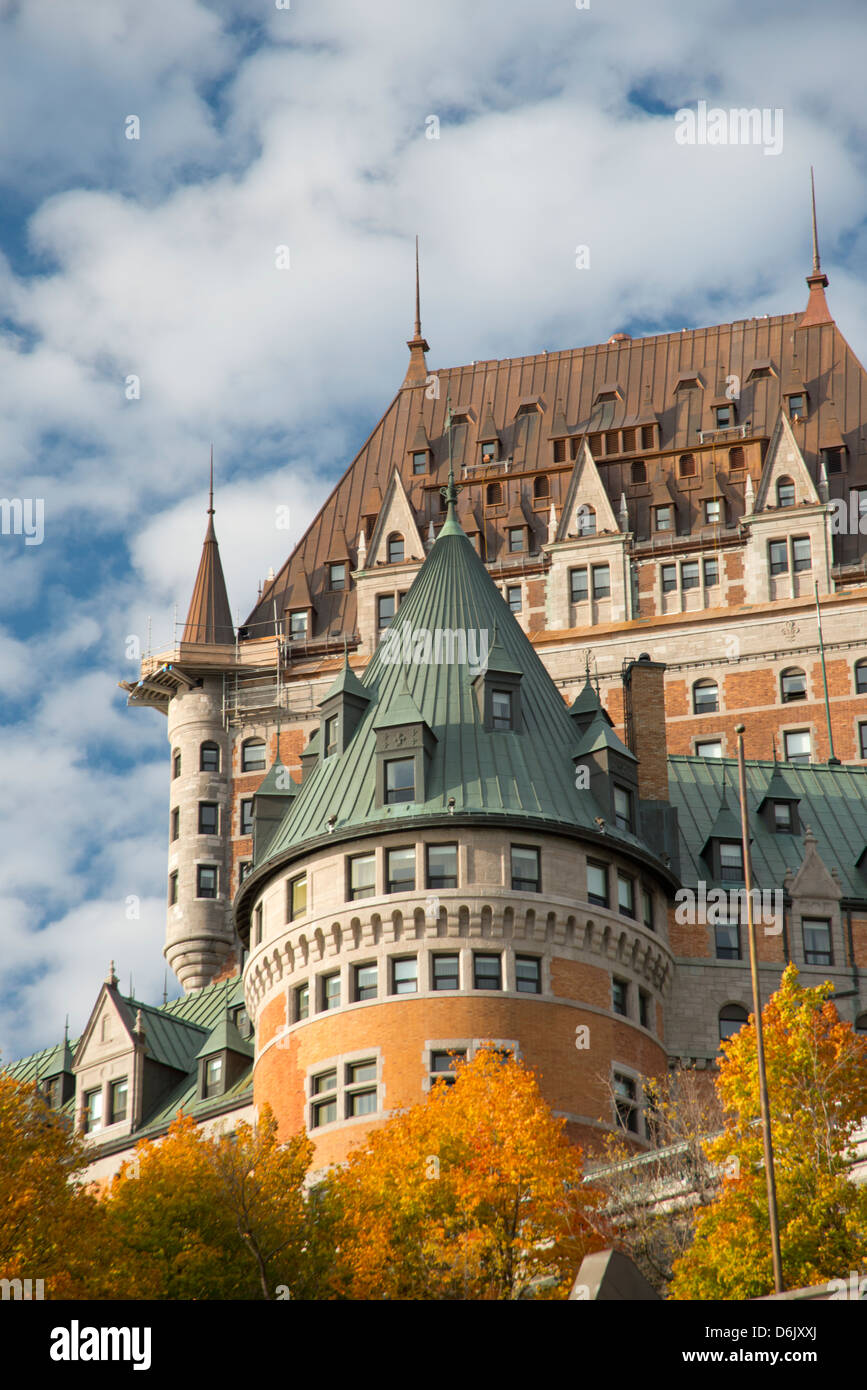 A view of the Chateau Frontenac, Quebec City, Quebec Province, Canada, North America - Stock Image