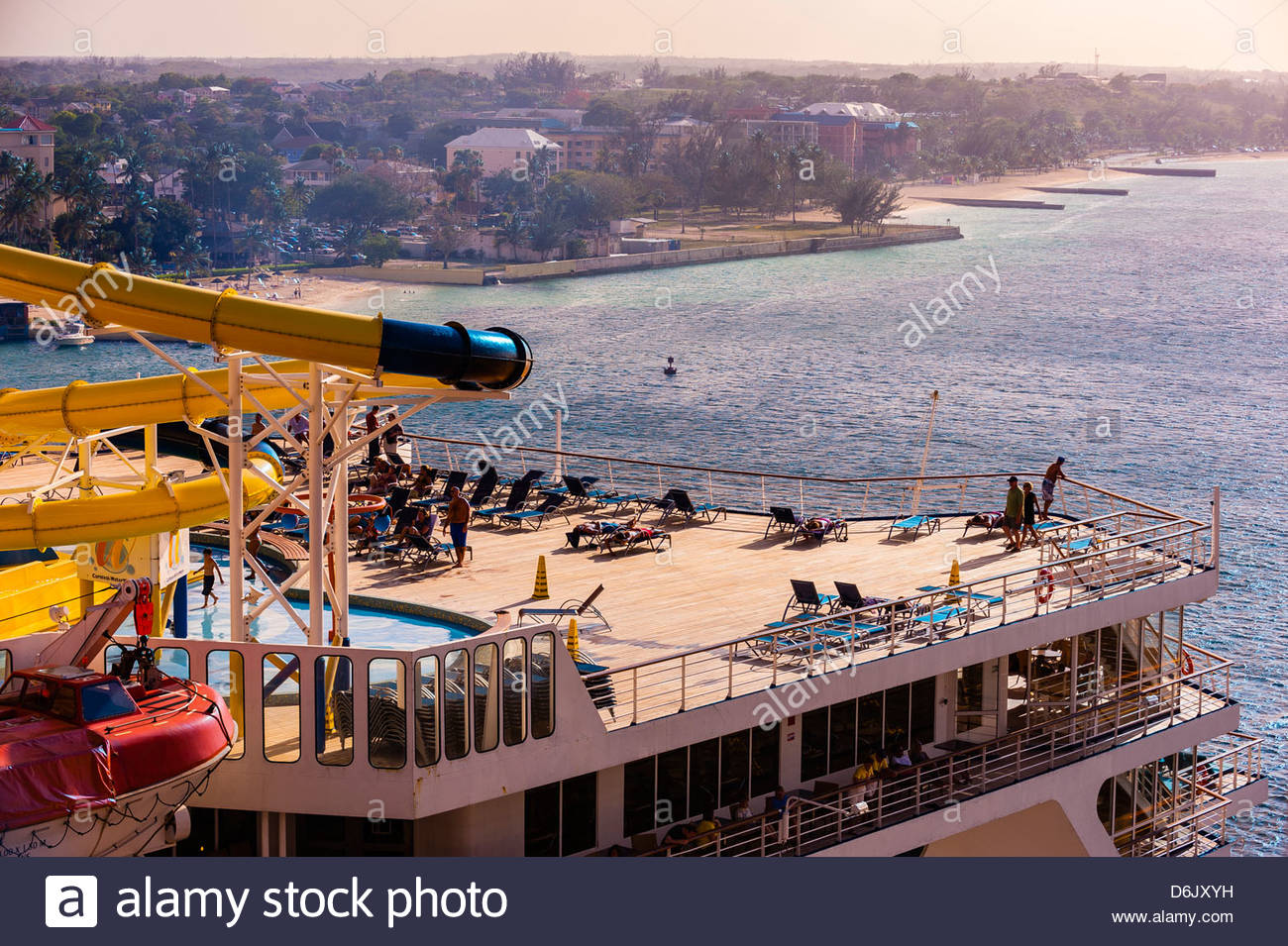 Carnival Fascination cruise ship docked at Nassau, The Bahamas. - Stock Image