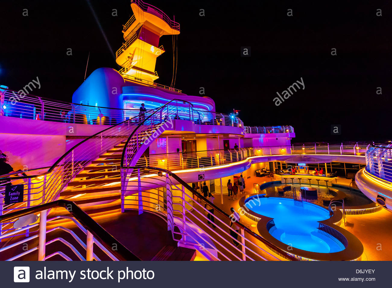 On Deck On The New Disney Dream Cruise Ship Disney Cruise Line Stock Photo Alamy