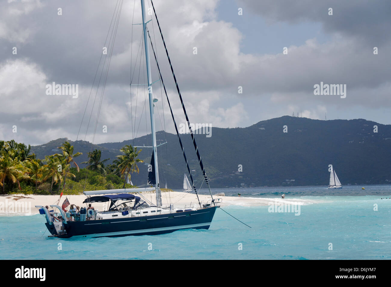 Jost Van Dyke, the smallest of the four main islands of the British Virgin Islands, West Indies, Caribbean, Central - Stock Image