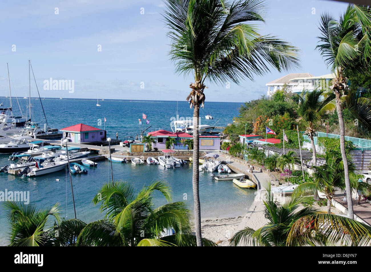 The Leverick Bay Resort and Marina, Virgin Gorda, British Virgin Islands, West Indies, Caribbean, Central America - Stock Image